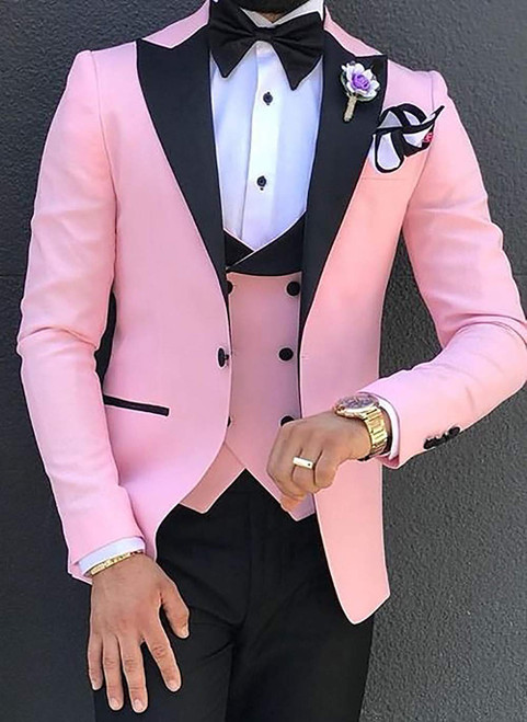 Men Suits 3 Pieces Slim Fit Business Suits