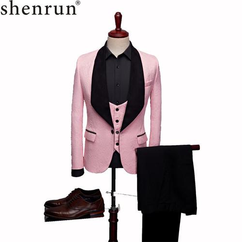 Mens Fashion Big Shawl Lapel 3 Pieces