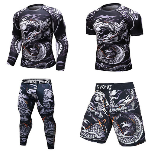 Men Sports Gym Fitness Compression Clothes