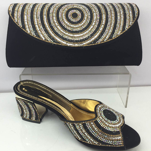 Black Color Matching Women Shoe