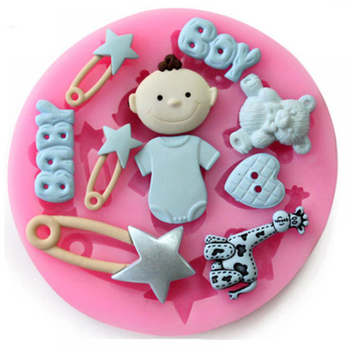 Pin baby girl silicone cake mold
