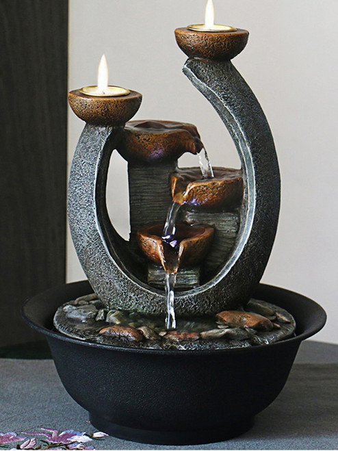 Water Fountain & Candle Holders
