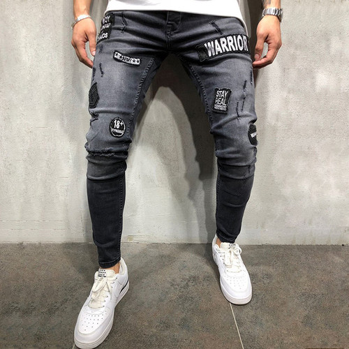KJ Fashion Distressed Jean Pencil Pants