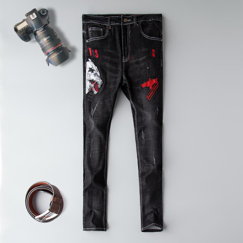 K J Quality men's  Denim fashion.  stone. jeans
