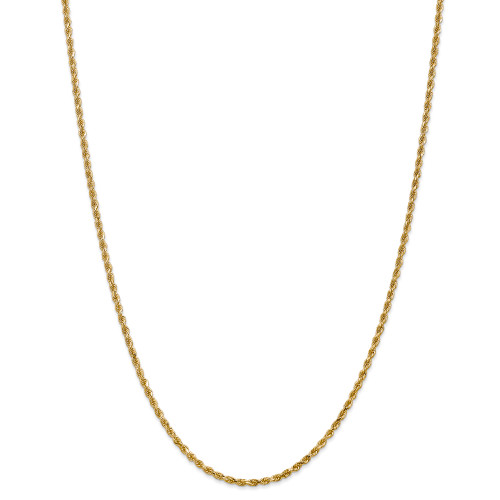 14K 2.25mm Diamond-Cut Rope with Lobster Clasp Chain: 14.02gm, 30in long, 2.25mm wide