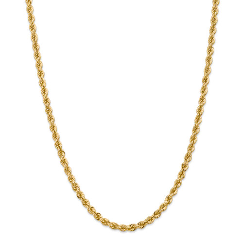 14K 5mm Regular Rope Chain: 46.10gm, 24in long, 5mm wide