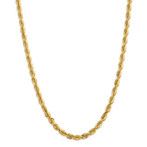 14K 5.5mm Diamond-Cut Rope with Lobster Clasp Chain: 76.73gm, 30in long, 5.5mm wide