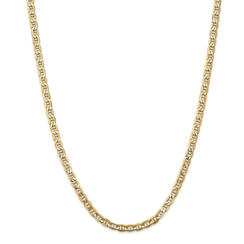 14K 4.75mm Semi-Solid Anchor Chain: 11.29gm, 24in long, 4.75mm wide
