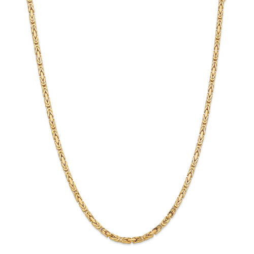 14K 3.25mm Byzantine Chain: 58.29gm, 30in long, 3.25mm wide