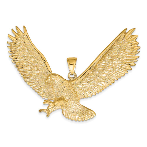 14K Eagle Pendant: 17.50gm, 50mm long, 65mm wide