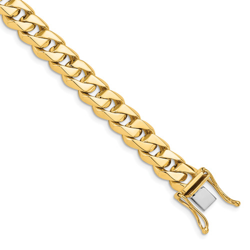 14K 8.6mm Hand-polished Traditional Link Chain: 127.50gm, 22in long, 8.6mm wide