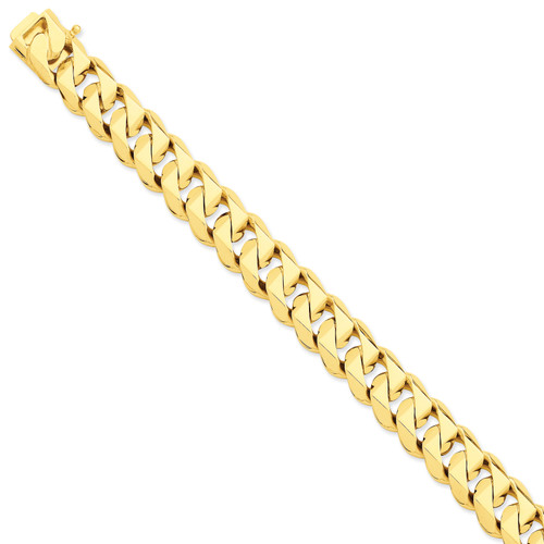 14K 14mm Hand-polished Traditional Link Chain: 208.64gm, 20in long, 14mm wide