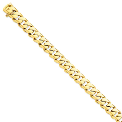 14K 10.8mm Hand-polished Rounded Curb Link Chain: 200.13gm, 22in long, 10.8mm wide