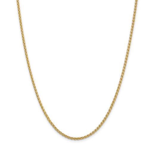 14K 2.8mm Spiga Chain: 15.17gm, 24in long, 2.8mm wide