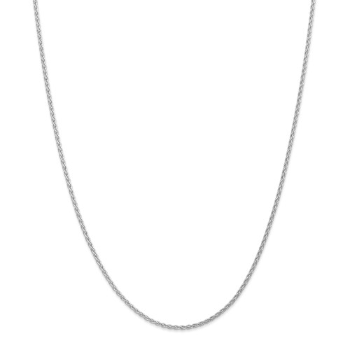 14K White Gold 1.75mm Parisian Wheat Chain: 11.71gm, 30in long, 1.75mm wide