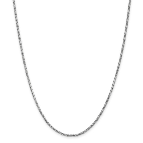 14K White Gold 2.25mm Parisian Wheat Chain: 12.79gm, 24in long, 2.25mm wide