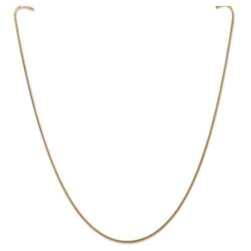 14K 1.6mm Round Snake Chain: 12.59gm, 24in long, 1.6mm wide