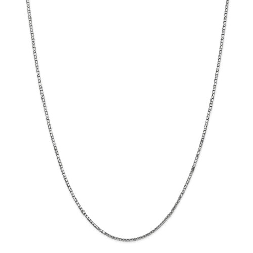 14K White Gold 1.5mm Box Chain: 10.21gm, 30in long, 1.5mm wide