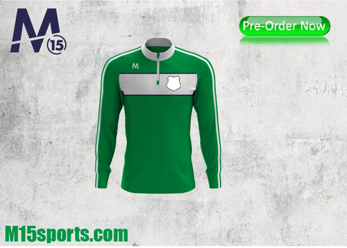 Half Zip - green/white