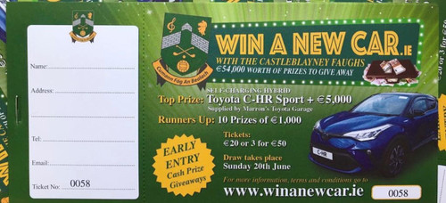 Blayney Faughs - Win A Car ticket (3 for €50.00)