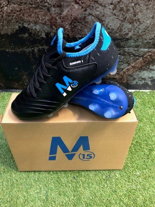 M15 Assassin Football Boots - Black/Royal - Lace