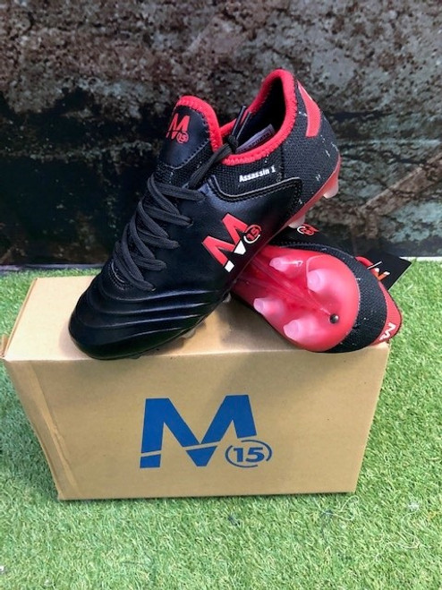 M15 Assassin Football Boots - Black/Red - Lace