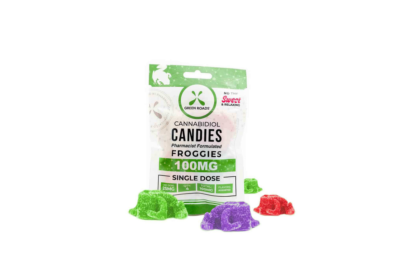 CBD GUMMIES: 100MG GUMMIE FROGGIES by GREEN ROADS