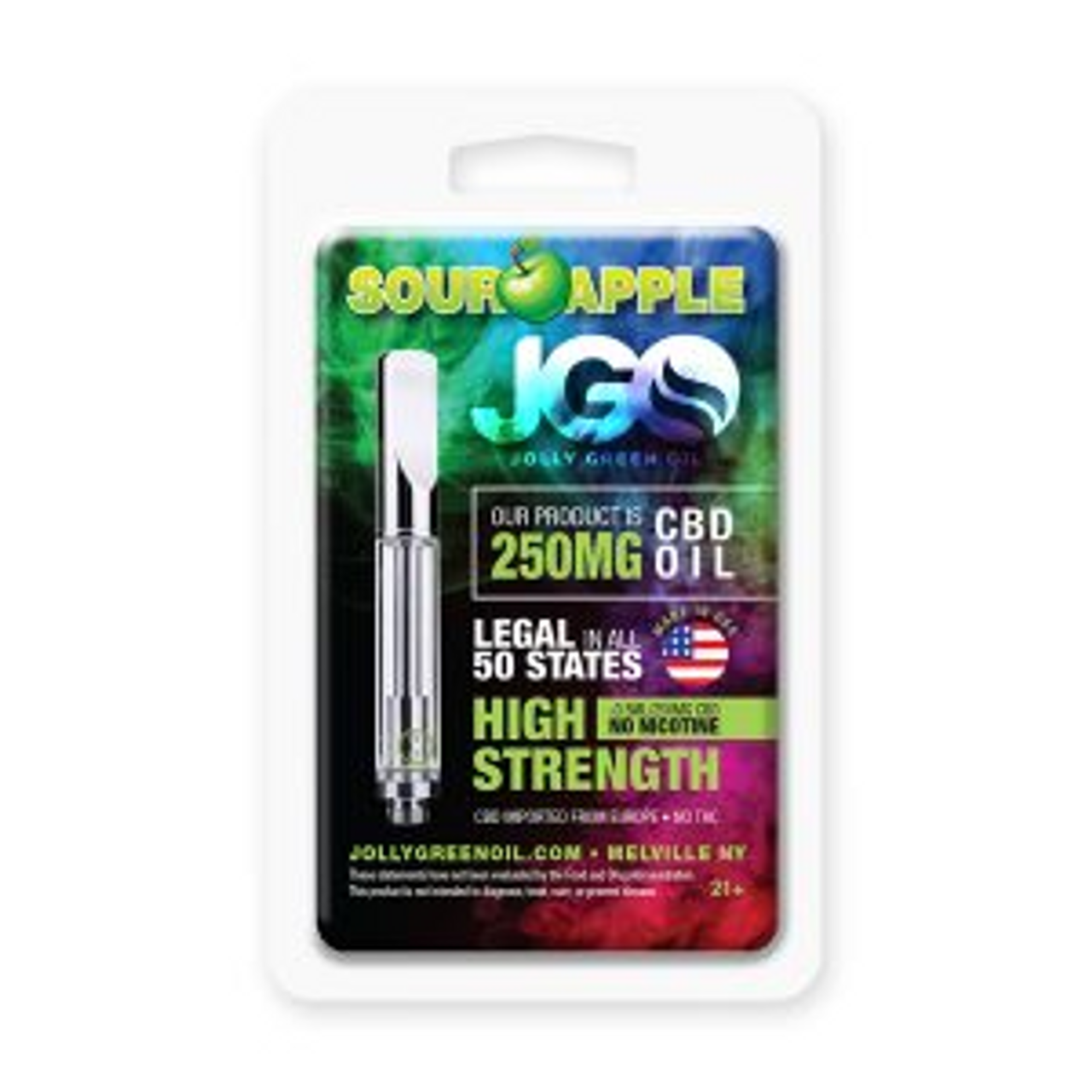 JGO CBD PRE-FILLED CBD CARTRIDGE: 250 MG Strength: Various Flavors Available