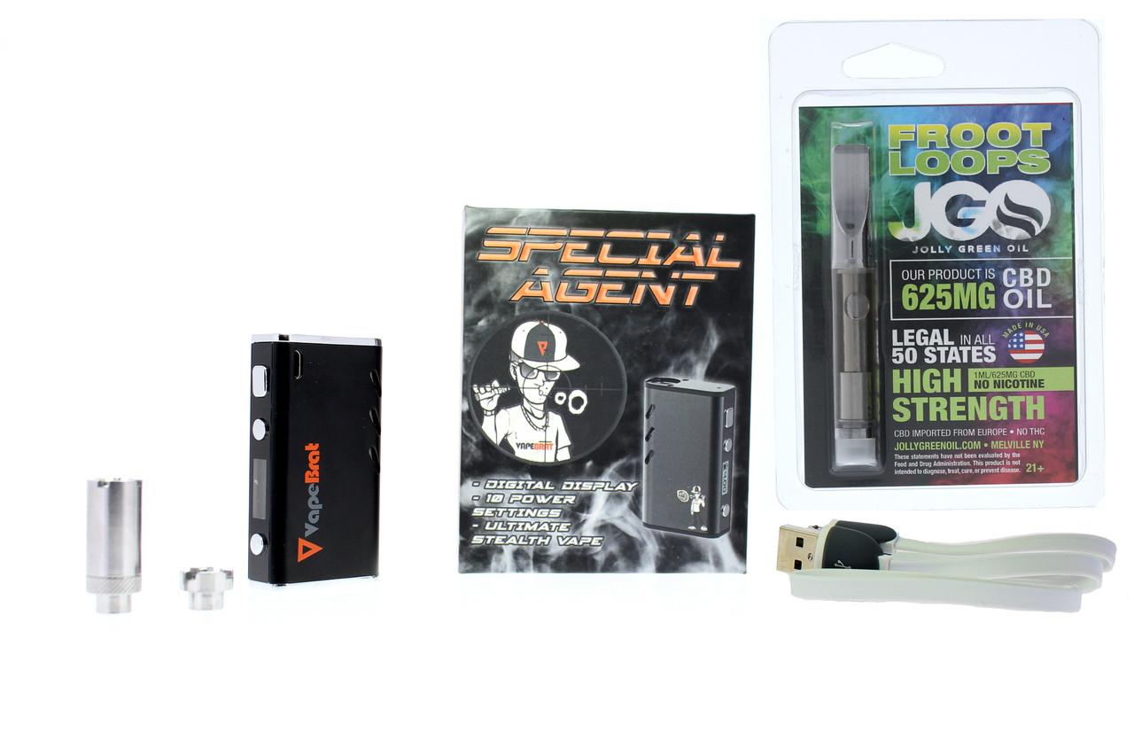 Special Agent Conceal Wax Cbd Vape Juice Pen Kit + Prefilled JGO 625 Cartridge