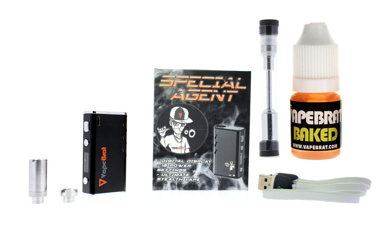 Special Agent Conceal Wax Cbd Vape Juice Pen Kit + Vapebrat CBD Juice 100mg  & Cartridge