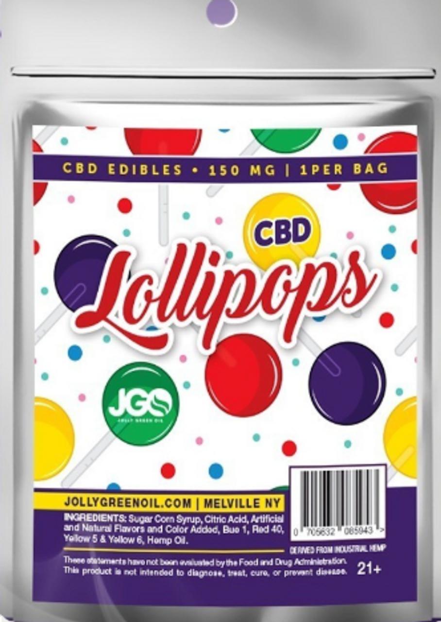 CBD Lollipops- 150MG Jolly Green Oil