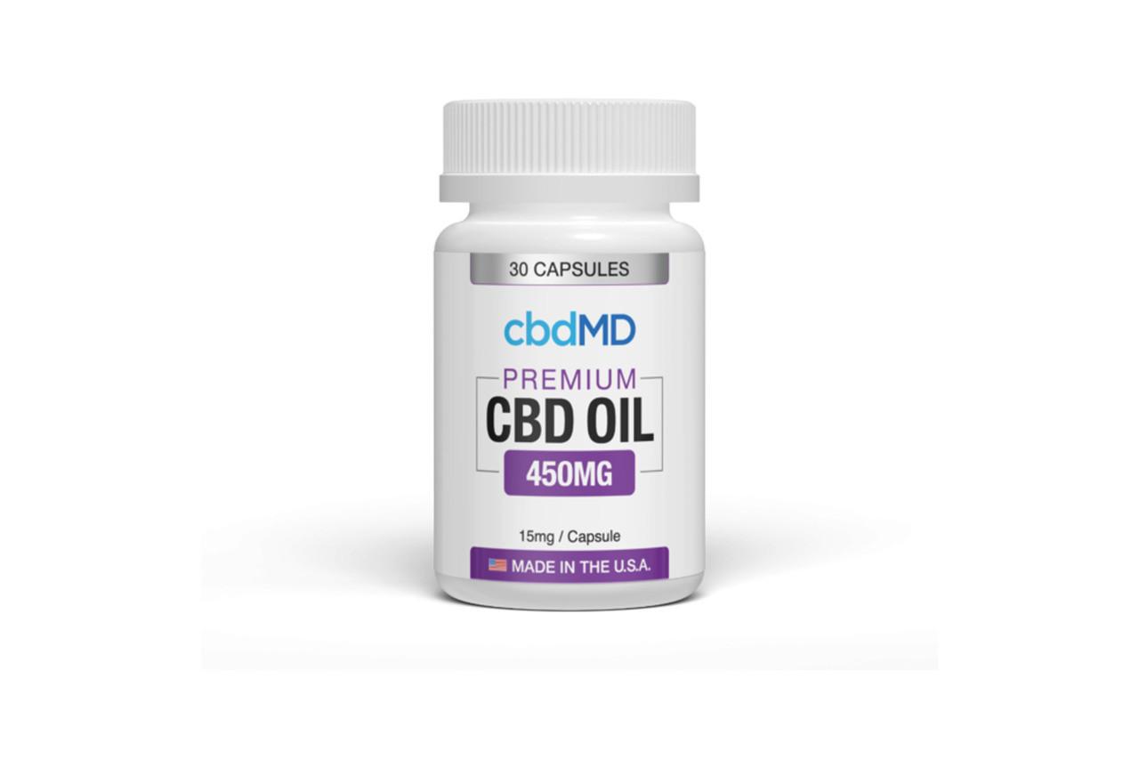 CBD MD Premium CBD 450mg Oil Capsule