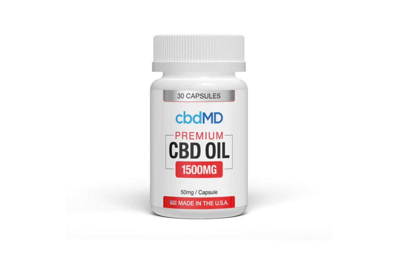 CBD MD Premium CBD 1500mg Oil Capsule