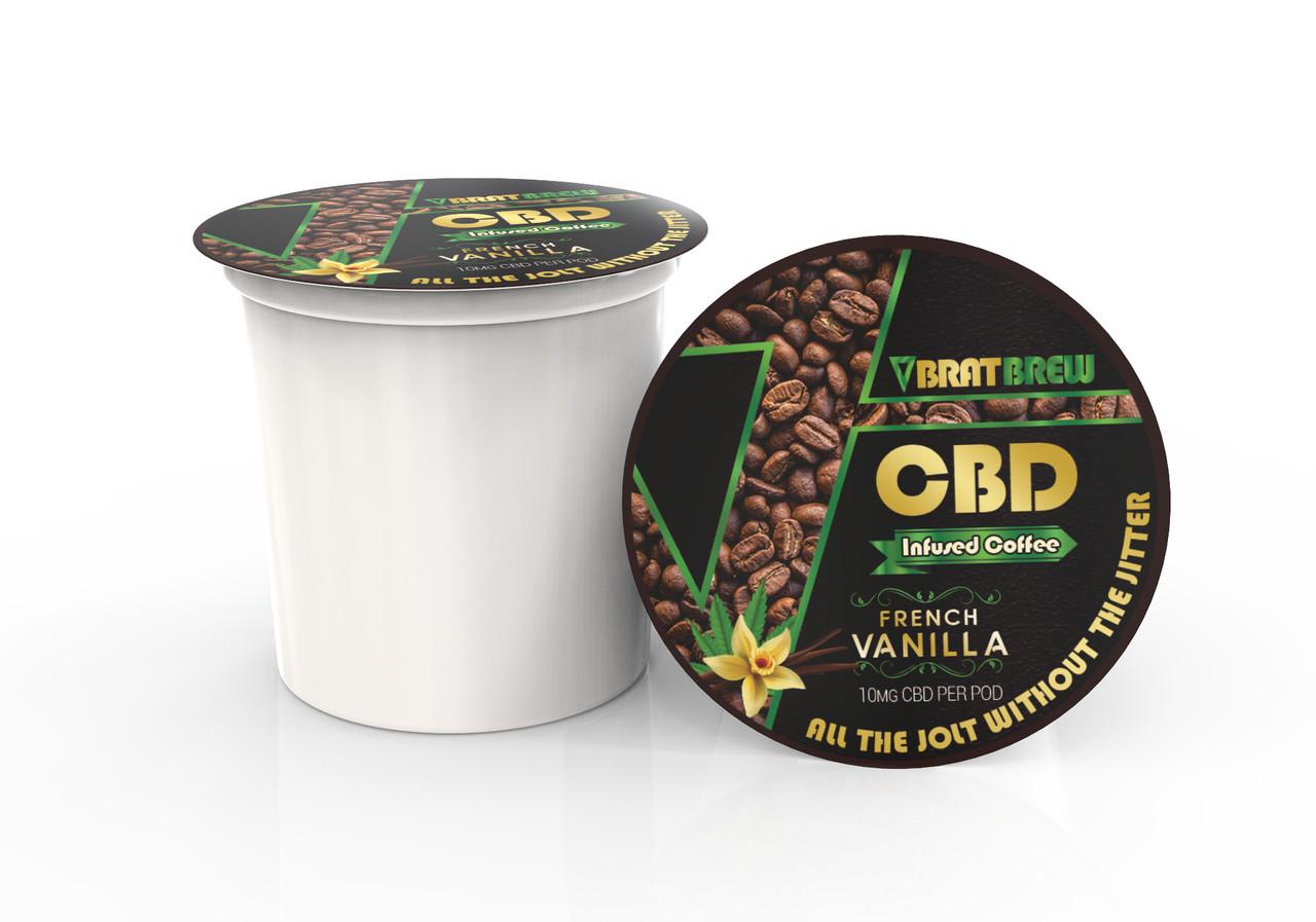 BratBrew: French Vanilla Flavor: CBD Infused Coffee Pod