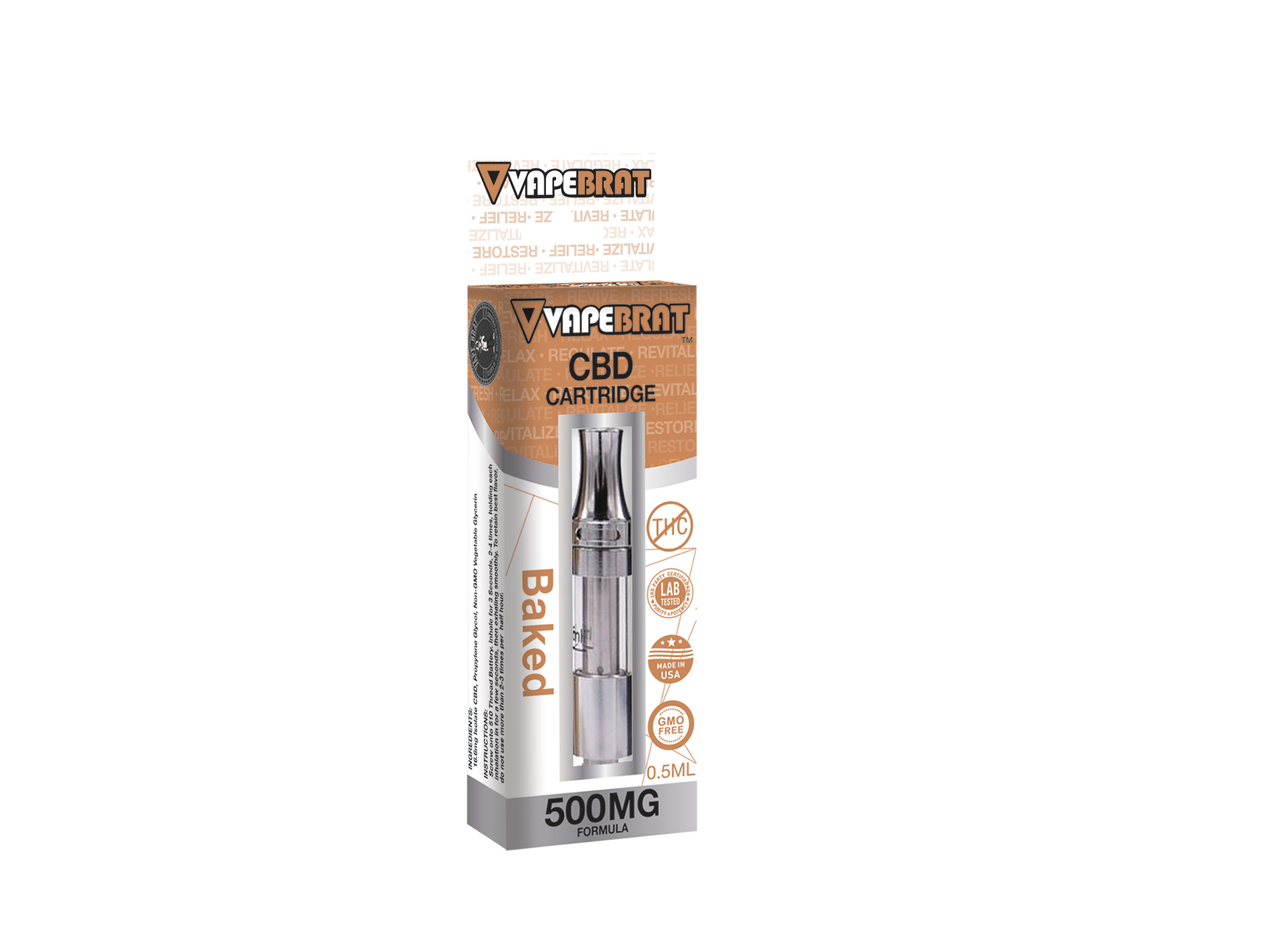 New!! VapeBrat 500MG Pre-filled Cartridge