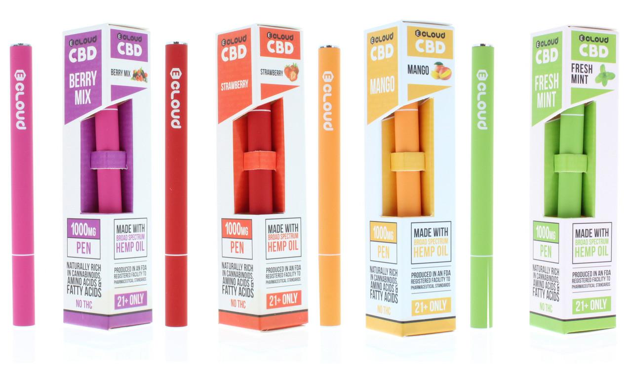 Ecloud 1000mg CBD Disposable Pen