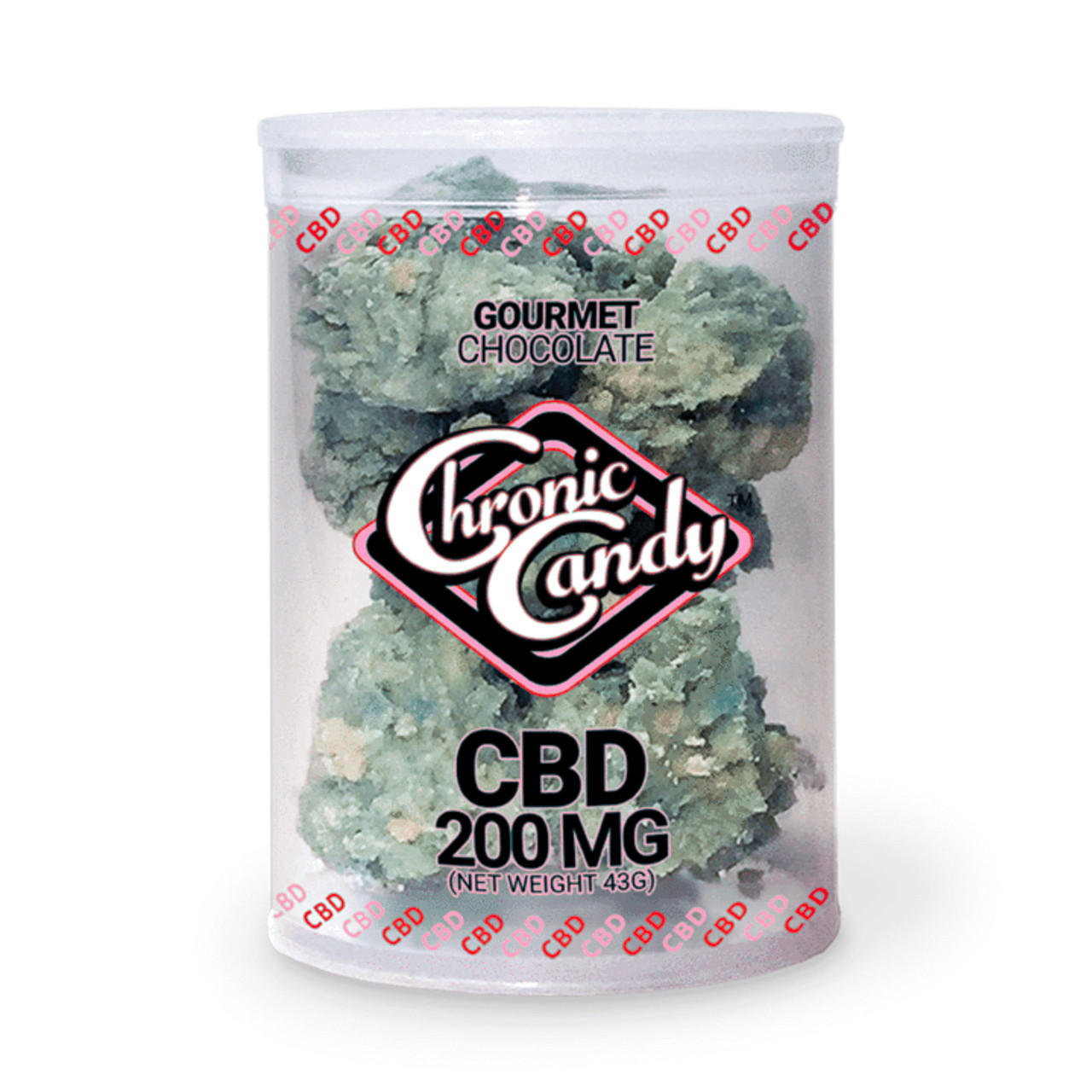 CHRONIC CANDY CBD CHOCOLATES NUGS 200 MG STRAWBERRY SHORTCAKE