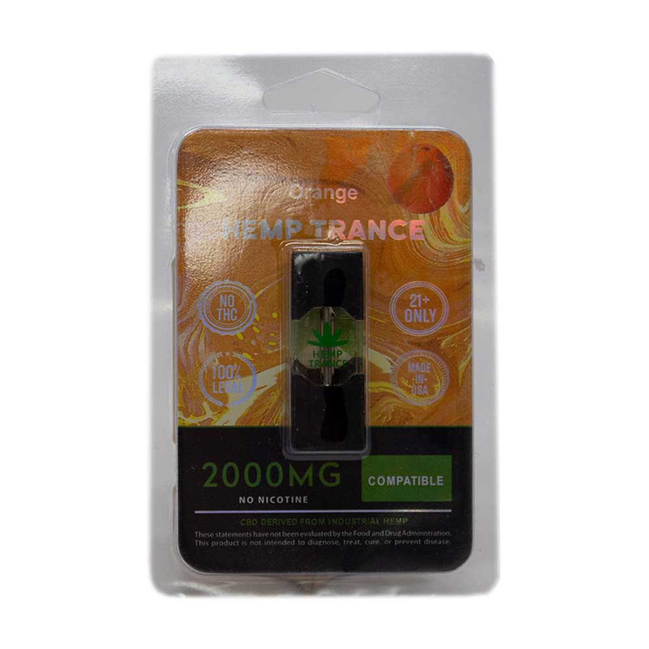 HEMPTRANCE CBD PODS 2000MG 1PK - ORANGE