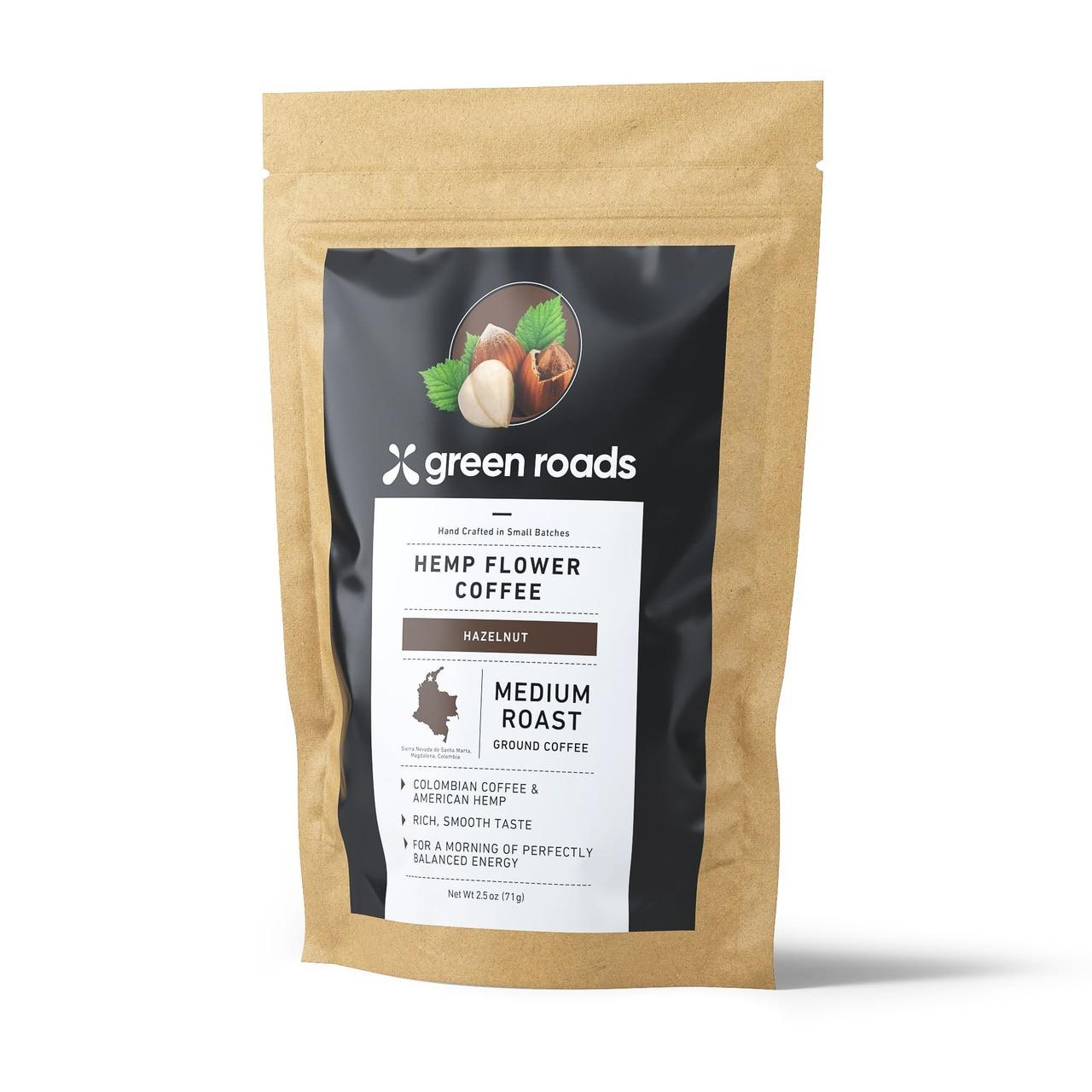 Green Roads Hemp Flower Coffee 2.5 oz - Medium Roast Hazelnut