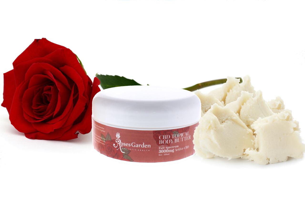 Roses Garden 3000mg Full Spectrum CBD Topical Body Butter