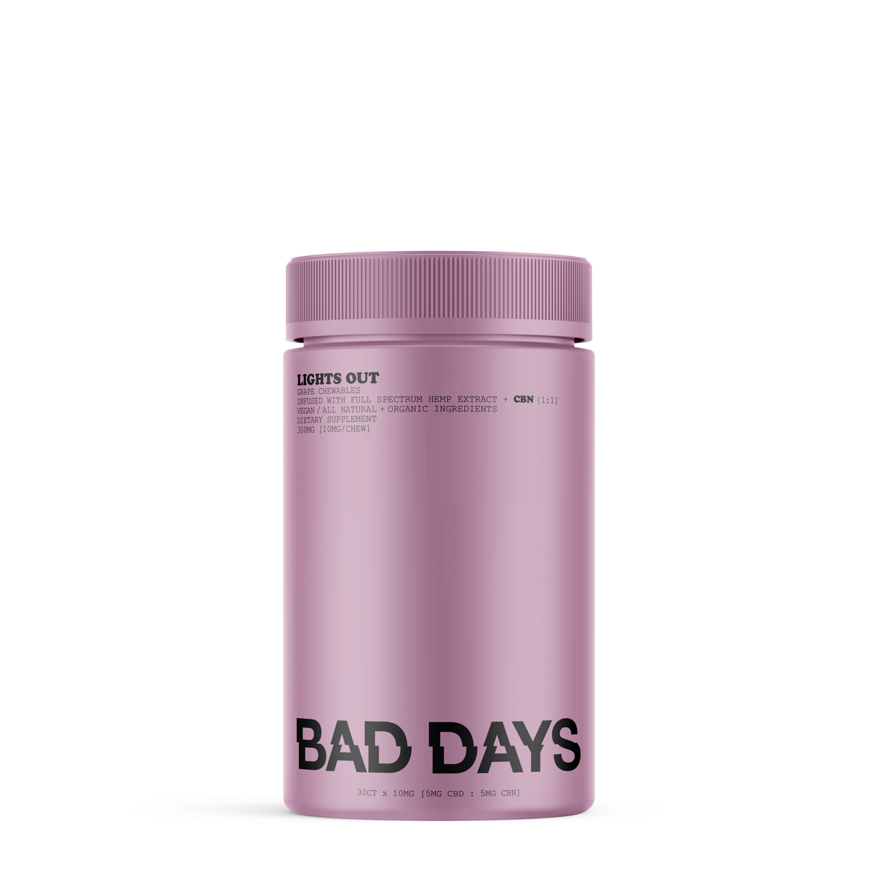 Bad Days Lights Out 30 Count 300mg Full Spectrum CBD + CBN Gummies