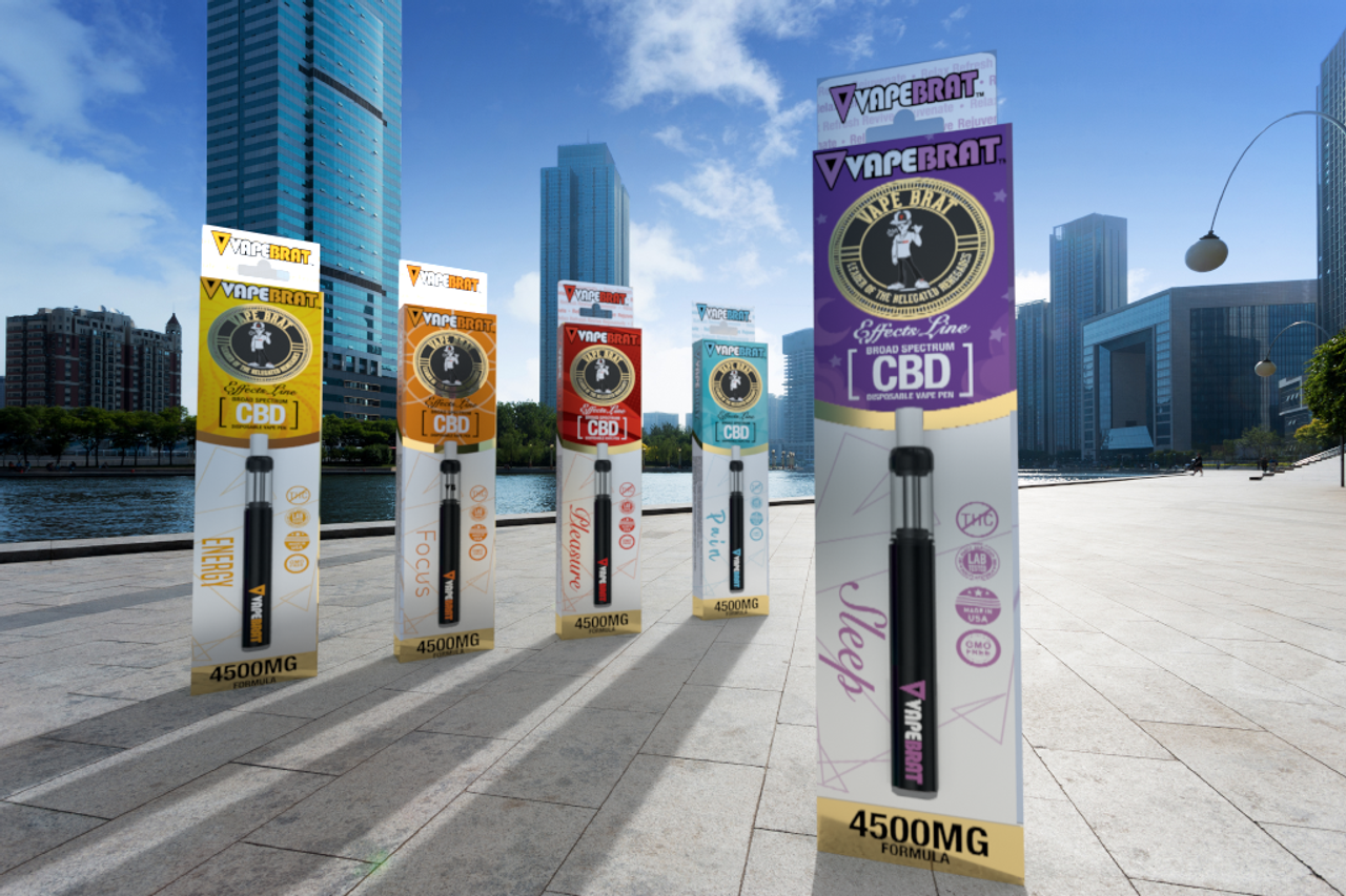 VapeBrat Effects Line Pre Filled Cartridges CBD Vape Pen : Sample 5 Pack: 4500mg Formula