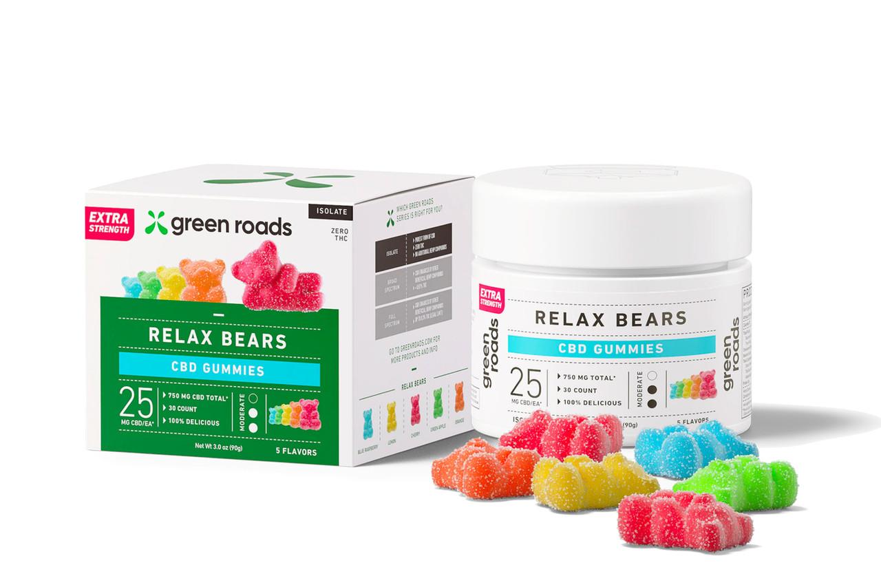 Relax Bears Extra Strength CBD Daily Dose Gummy Bears 30 Day Supply 750mg