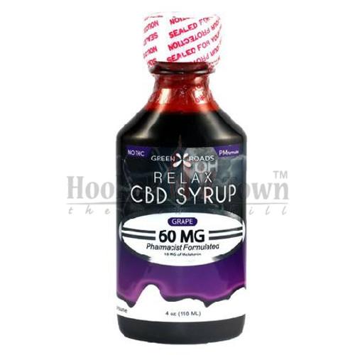 CBD NIGHTTIME PM SYRUP (RELAX): 100MG CBD 4oz Bottle: GRAPE FLAVOR