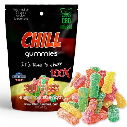Chill Gummies - CBD Infused Sour Faces [Edible Candy]