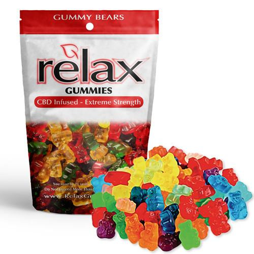 Relax Gummies - CBD Infused Gummy Bears [Edible Candy]