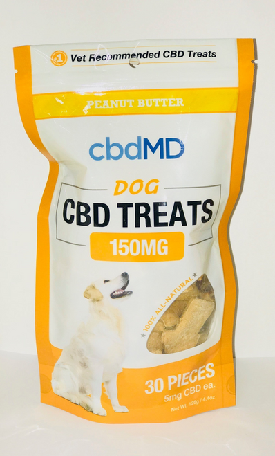 CBDMD Peanut Butter Dog Treats 30 Count-150MG