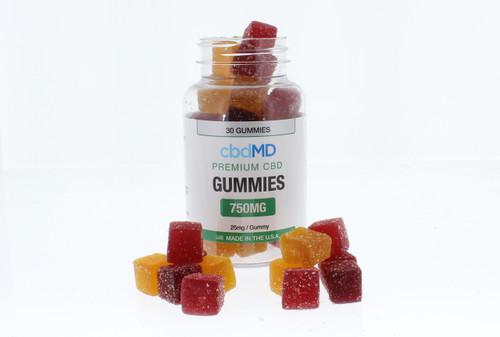 CBD MD Premium CBD Gummies 750mg 30 Gummies