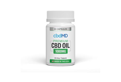 CBD MD Premium CBD 1000mg Oil Capsule