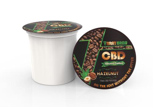 BratBrew: Hazelnut Flavor: CBD Infused Coffee Pod